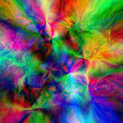 Glass Wall Digital Art - Discovery of the Beauty in the Dance of Colours by Grigor Dolyan