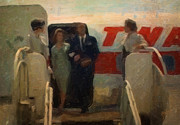 Airlines Digital Art - Disembarking the TWA plane by Nop Briex