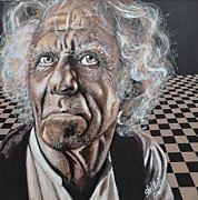 Keith Richards Painting Originals - Disgusted Old Man by Shirl Theis