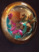 Mirror Sculptures - Dished Hummingbird mirror by Glen Cowan