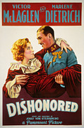 Thd Framed Prints - Dishonored, Marlene Dietrich, Victor Framed Print by Everett