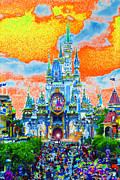 Walt Disney World Florida Art - Disney at Fifty by David Lee Thompson