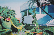 Disney Pastels Posters - Disney Epcot Topiary Poster by Dana Schmidt