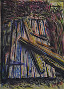 Weathered Pastels Prints - Displaced Door Print by Robert Sassi