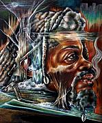 Reggae Art Paintings - Disruption of Nature by Robert  Nelson