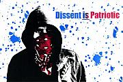 Screen Print Metal Prints - Dissent is Patriotic Metal Print by Jeff Ball