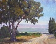 Dirt Road Paintings - Distant Fields by Sharon Weaver