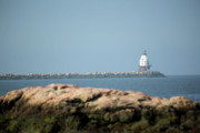 New England Lighthouse Prints - Distant Lighthouse Print by Karol  Livote