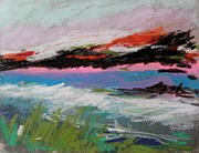 Abstract Expression Pastels - Distant View by John  Williams