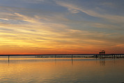 Nautical Structures Photos - Distant View Of Fishing Pier by Steve Winter