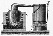 Distillation Framed Prints - Distillation Apparatus, 18th Century Framed Print by Cci Archives
