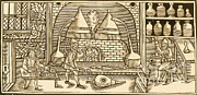 Distillation Framed Prints - Distillation, Middle Ages Framed Print by Science Source