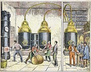 Man Machine Prints - Distillery, 19th Century Print by Cci Archives