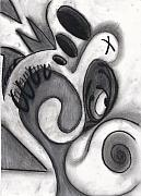 Charcoal Pastels Prints - Distorted Series 3 Print by Dan Fluet
