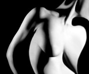 Female Nudes Prints - Distortion - Self Portrait Print by Jaeda DeWalt