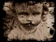 Baby Digital Art - Distressed Baby Angel by Melissa Wyatt