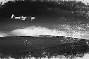 Distressed Spitfire Print by Meirion Matthias