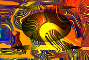 Merging Digital Art Prints - Disturbance Print by Arthur Thompson