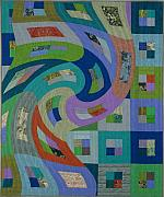 Featured Tapestries - Textiles Originals - Disturbances 6 by Marilyn Henrion
