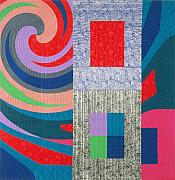 Reds Tapestries - Textiles Posters - Disturbances 7 Poster by Marilyn Henrion