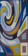 Featured Tapestries - Textiles Originals - Disturbances 9 by Marilyn Henrion