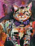 Felines Paintings - Diva  by Ginette Fine Art LLC Ginette Callaway