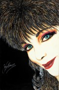 Autographed Metal Prints - Diva Nasty Metal Print by Joseph Lawrence Vasile