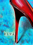 Stilettos Paintings - Diva by Susi Franco