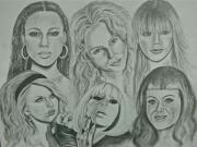Singers Drawings Prints - Divas Now Print by Sandra Valentini