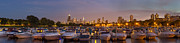 Sky Line Art - Diversey Harbor and Chicago Skyline by Twenty Two North Photography