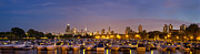 Sky Line Art - Diversey Harbor at Dusk by Twenty Two North Photography