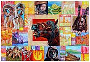 Sheep Originals - Divided Land - Crying Horse by John Lautermilch