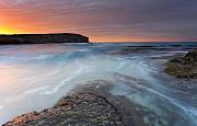 Dawn Metal Prints - Divided Tides Metal Print by Mike  Dawson