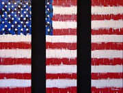 Patriotic Paintings - Divided We Fall by Stephen P ODonnell Sr