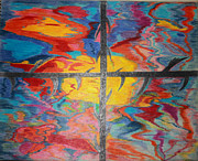 Fine Art Abstract Drawings Drawings Originals - Divine Dusk by Todd Breitling