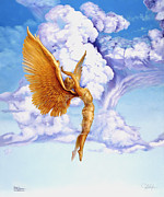 Golden Age Of Flight Posters - Divine Ecstasy Poster by Gregory Clarke-Johnsen