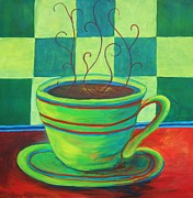 Espresso Paintings - Divine Espresso by Deb Magelssen
