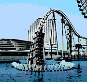 Tourist Attraction Digital Art - Diving Coaster Vanish by George Pedro
