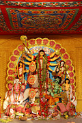 Durga Puja Photos - Divinity No.8926 by Fotosas Photography