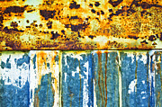 Rust Lines Framed Prints - Division Framed Print by Silvia Ganora