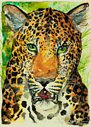 Panthers Painting Prints - Diviya Print by Sydney Zmitrewicz
