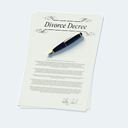 Legal System Framed Prints - Divorce Papers In English And Pen Framed Print by Doug Armand