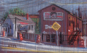 Street Pastels Originals - Dixie Exterminators by Donald Maier