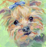 Yorkie Metal Prints - Dixie Metal Print by Kimberly Santini