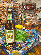Beer Painting Prints - Dixie Love Print by Dianne Parks