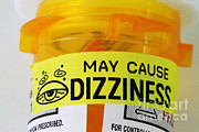 Label Prints - Dizziness Warning Label Print by Photo Researchers, Inc.