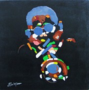 Music Themed Art Paintings - Dizzy by Bill Manson