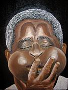 Keenya Woods Mixed Media Originals - Dizzy- The Jazz Man by Keenya  Woods