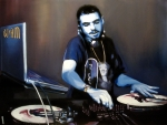 Celebrity Painting Prints - Dj Am Print by Ryan Jones