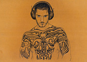 Featured Drawings - Dj by Mon Graffito
